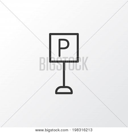 Premium Quality Isolated Roadsign Element In Trendy Style.  Parking Sign Icon Symbol.