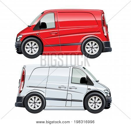 Cartoon van isolated on white background. Available EPS-10 vector format separated by groups and layers for easy edit