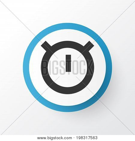 Premium Quality Isolated Second Meter Element In Trendy Style.  Stopwatch Icon Symbol.