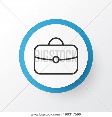 Premium Quality Isolated Briefcase Element In Trendy Style.  Handbag Icon Symbol.