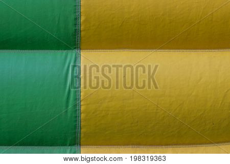 Green Yellow Pvc Tarpaulin Detail Background