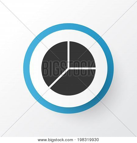 Premium Quality Isolated Cicrcle Graphic Element In Trendy Style.  Pie Chart Icon Symbol.