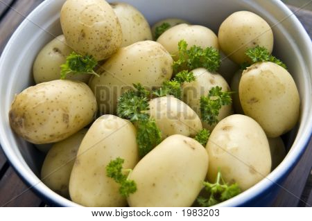 Dish Of Hot New Potatoes