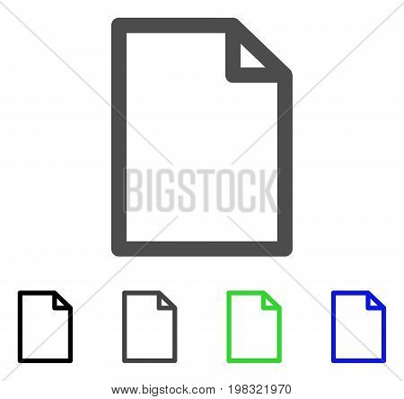 New File flat vector pictogram. Colored new file, gray, black, blue, green icon versions. Flat icon style for web design.