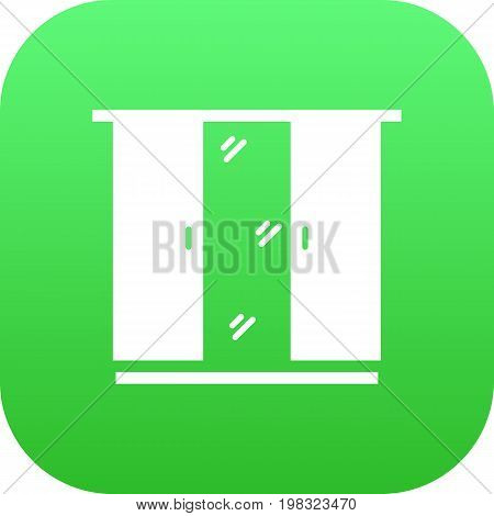 Vector Cupboard Element In Trendy Style.  Isolated Closet Icon Symbol On Clean Background.