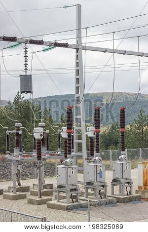 Electric Power Substation With Circuit Switcher, Regulators And Recloser 2