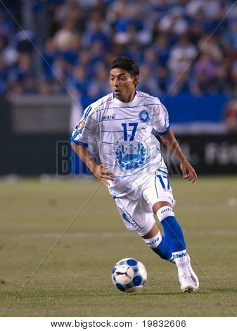CARSON, CA. - JULY 3: Concacaf Gold Cup soccer match, Costa Rica vs. El Salvador at the Home Depot center in Carson. Christian Castillo dribbling the ball on July 3, 2009.