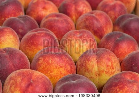 Farmers Market Peaches Background
