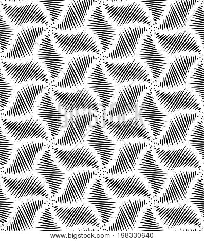 Abstract geometric pattern. Black and white texture. Graphic modern pattern. Vintage seamless background