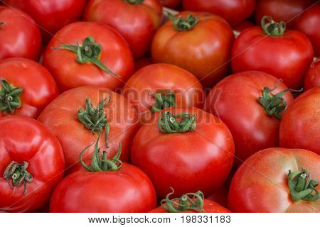 Farmers Market Tomato In A Wooden Crates,  Background 2