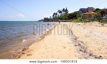 Hot weather Maputo beach view in Mozambique