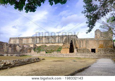 Ruins of the ancient Mayan city of Uxmal Mexico