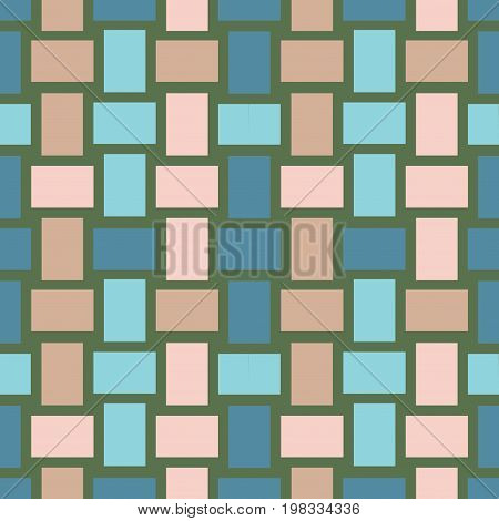 Geo seamless pattern in color Seamless woven wicker texture background Cane pattern Checkered motif Seamless background texture of crosshatched bold lines
