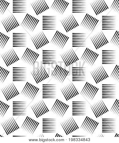 Halftone pattern background. Geo vector seamless pattern. Halftone lines on a white background. Screen print texture. Monochrome geometric texture