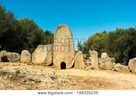 tomb of the giants: Li Lolghi collective tomb of age nuragica. municipality of Arzachena Sardinia Italy