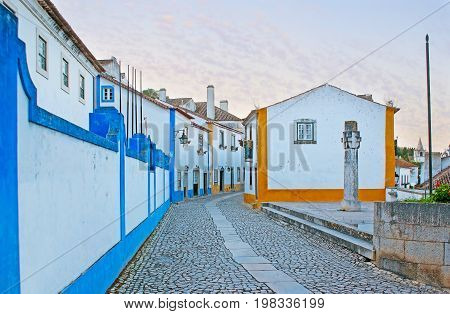 The Central Street Of Obidos
