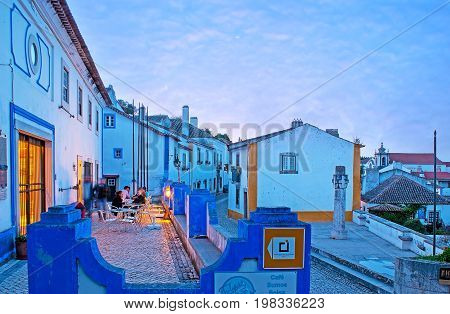 Evening Cafe In Obidos