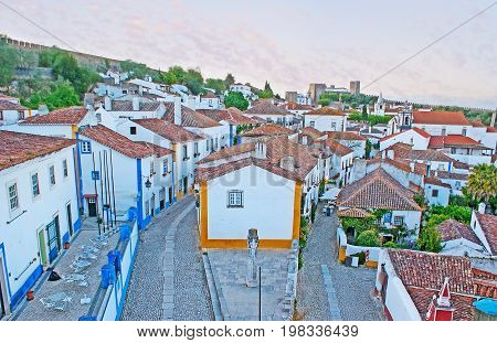 Walk Above Obidos Roofs