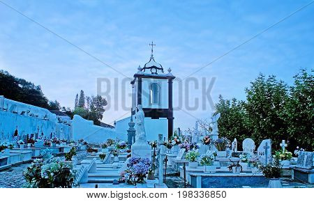 The Cemetery Of Obidos