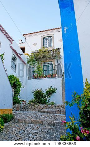 The Floral Decorations In Obidos
