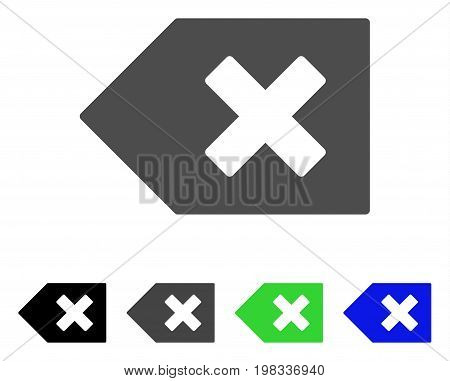Backspace flat vector icon. Colored backspace, gray, black, blue, green icon variants. Flat icon style for application design.