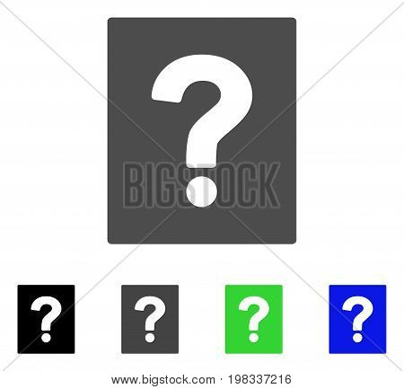 Help flat vector icon. Colored help, gray, black, blue, green icon variants. Flat icon style for web design.