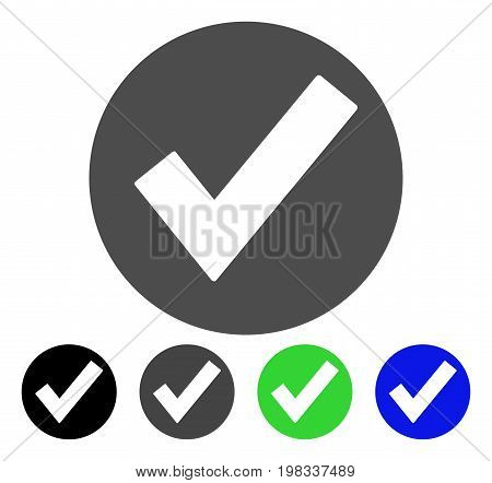 Ok flat vector pictogram. Colored ok, gray, black, blue, green pictogram versions. Flat icon style for graphic design.