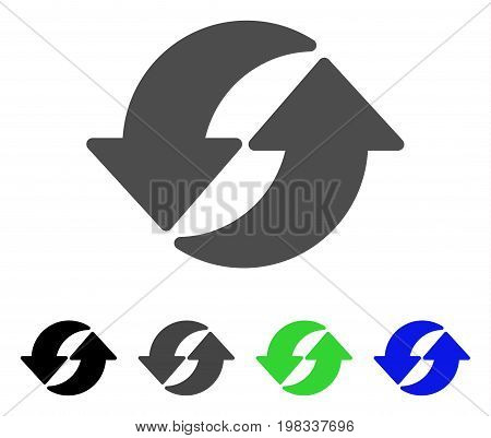 Refresh flat vector icon. Colored refresh, gray, black, blue, green icon variants. Flat icon style for web design.
