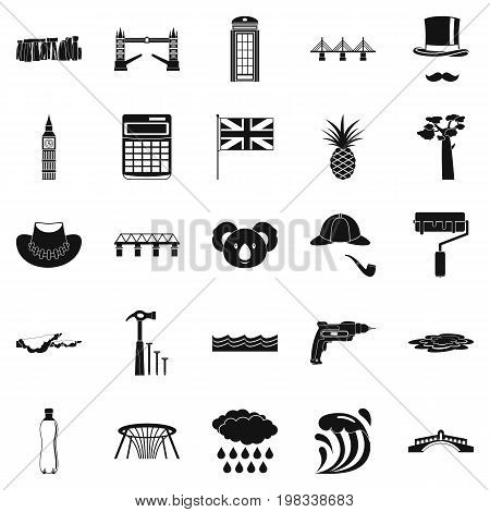 Crossway icons set. Simple set of 25 crossway vector icons for web isolated on white background