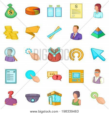 Salary icons set. Cartoon set of 25 salary vector icons for web isolated on white background