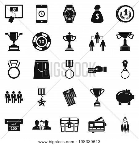 Cash transfer icons set. Simple set of 25 cash transfer vector icons for web isolated on white background