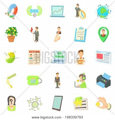 Employee icons set. Cartoon set of 25 employee vector icons for web isolated on white background