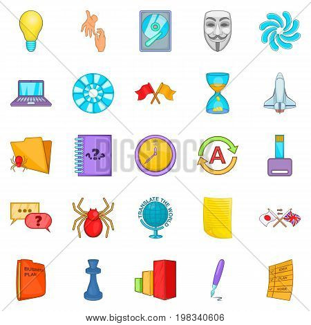 Broker icons set. Cartoon set of 25 broker vector icons for web isolated on white background