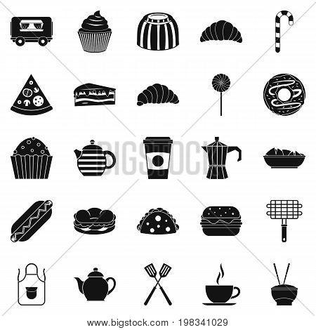 Ingestion icons set. Simple set of 25 ingestion vector icons for web isolated on white background