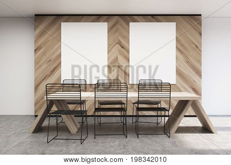 Wooden Wall Cafe Interior, Posters