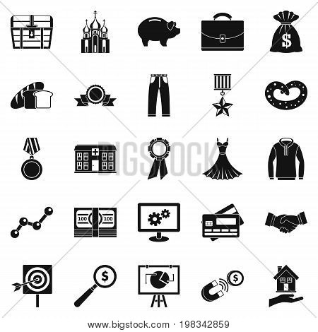 Beneficence icons set. Simple set of 25 beneficence vector icons for web isolated on white background
