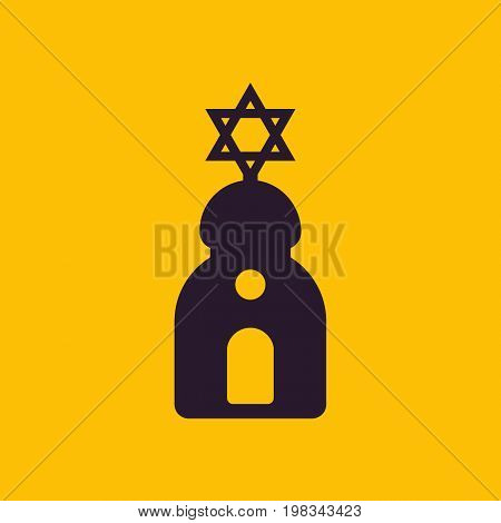 synagogue sign, simple icon, eps 10 file, easy to edit
