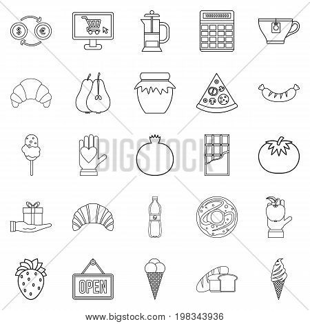 Hash house icons set. Outline set of 25 hash house vector icons for web isolated on white background