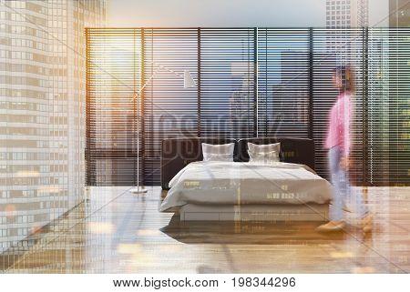 Loft Bedroom Interior, Shades, Girl, Double