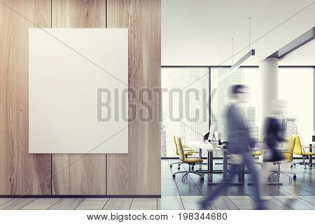Business People In Yellow Chair Meeting Room