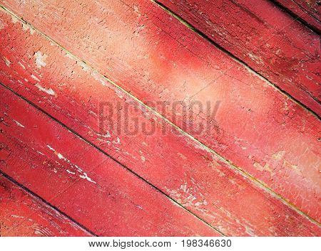Wooden Planks Background. Wooden Planks With Cracked Old Paint Residue. Withered Old Fence Boards. A