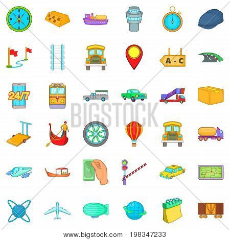 Paid delivery icons set. Cartoon style of 36 paid delivery vector icons for web isolated on white background
