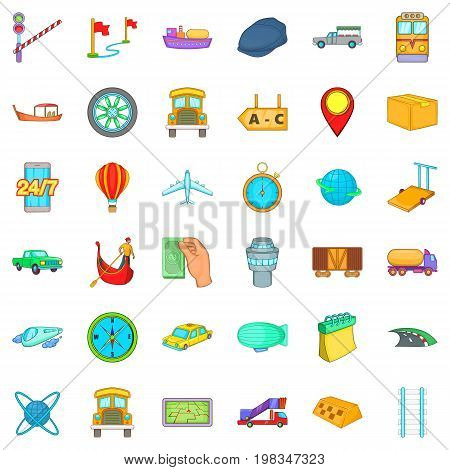 Freight delivery icons set. Cartoon style of 36 freight delivery vector icons for web isolated on white background