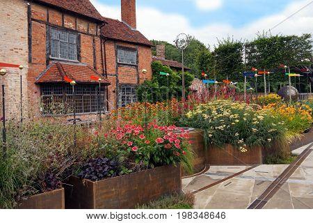 Stratford-upon-avon, Uk - July 21 2017: The Garden At