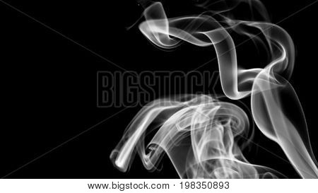 Abstract background with white smoke. 3d rendering.