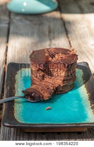 Creamy Chocolate Mousse Layered Cake