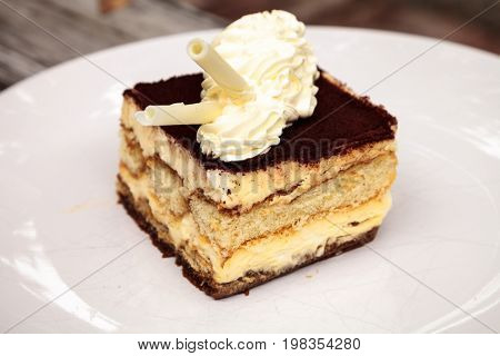 Creamy Italian Tiramisu With A Coffee Flavored Custard