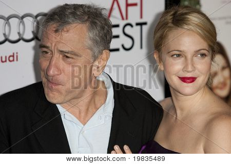 HOLLYWOOD, CA. - NOVEMBER 3: Robert De Niro (L) and Drew Barrymore (R) attend the AFI Fest premier of Everybody's Fine at The Grauman's Chinese Theater on November 3, 2009 in Hollywood.