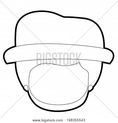 sketch silhouette of caricature faceless gut with hat and bearded vector illustration