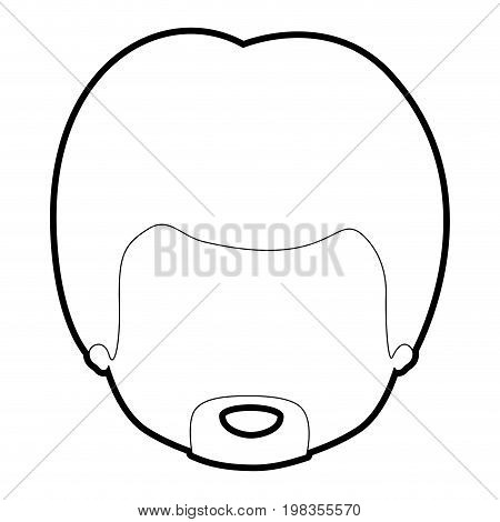 sketch silhouette of caricature faceless guy with van dyke beard vector illustration